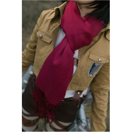écharpe rouge mikasa