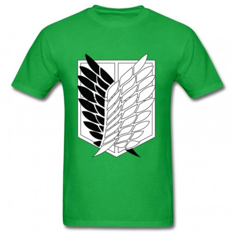 T shirt attaque des titans vert